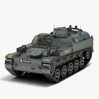 combat apc army 3d model