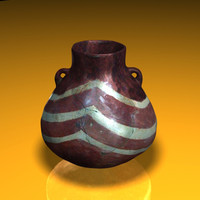 ancient anatolian pottery 3d max