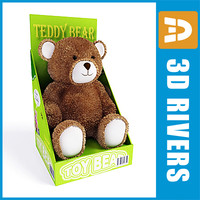 teddy bear box toys 3d max