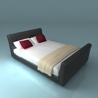 leather bed obj