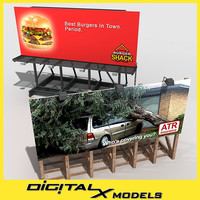 3d model billboards