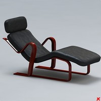3d model of chaise longue