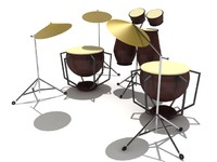 Drum Set - High Quality 3d product model(1)