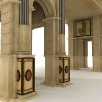 roman gate 3d model