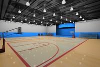 3d gym scene