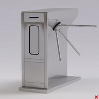 turnstile 3d model