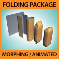 folding package 3d model