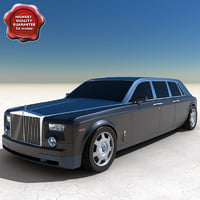 rolls-royce phantom 2004 limo 3d model