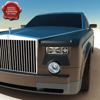 rolls-royce phantom 2004 3d model