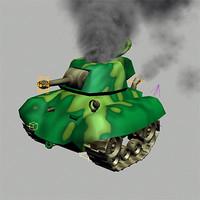 Rigged Cartoon Tank