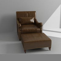 maya leather armchair