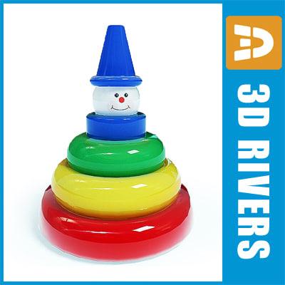 3dsmax colour pyramid toy