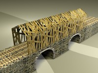 old covered bridge 3d max