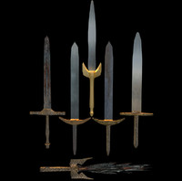 3d cost swords pack