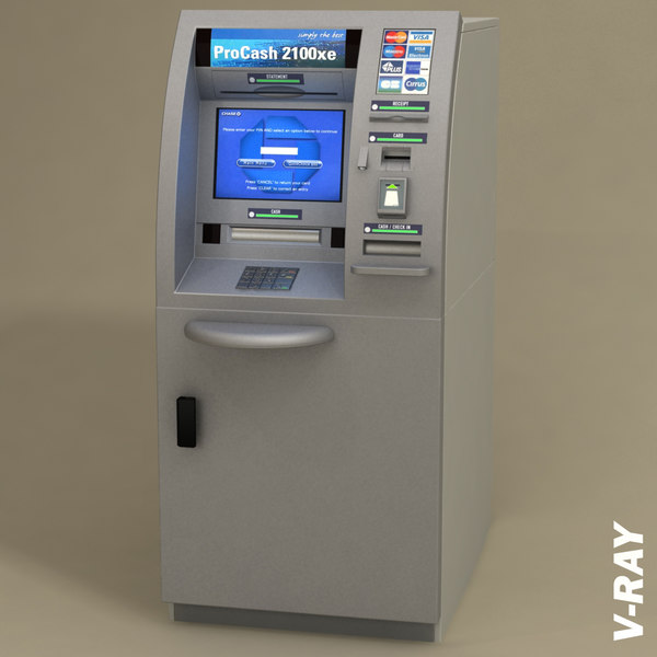 teller machine atm pc2100 3d model - Automated teller machine - Cash dispenser ATM PC2100 XE Wi... by InfinityStudio