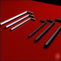 3d set allen wrenches model