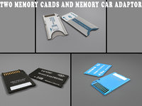 3d sd memory cards adaptor model