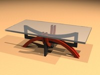 cocktail table 3d dwg