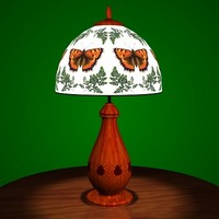 3d tiffany lamp model