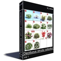 Deciduous shrubs collection