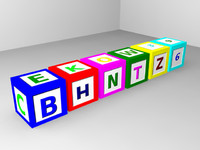 alphabet blocks obj