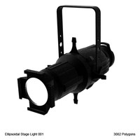 3d ellipsoidal stage light