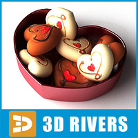 3d x saint valentine hearts candies