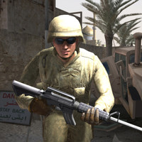 soldier military 3d max