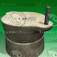 3d model stone grinder