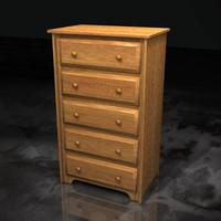 3d model dresser drawers