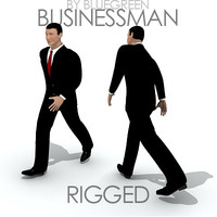 businessman suit rigged max