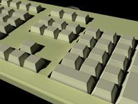 3d keyboard old styled model