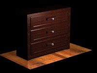 free chest wooden draws 3d model