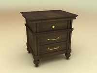 Side-Drawers from Klaussner Ashton Bedroom Furniture Set - High Quality Furniture 3d model