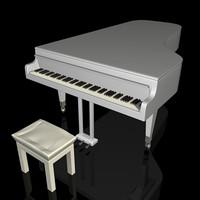 3d model piano keyboard
