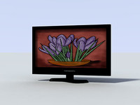 flatscreen flat screen 3d model