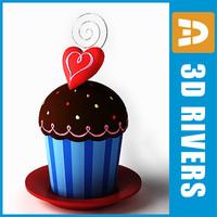 saint valentine cake 3d max