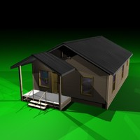 typical 60 s style house 3d max