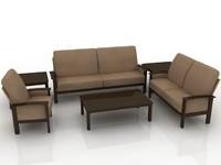 3d model sofa set furniture
