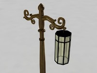 3d model street lamp light -