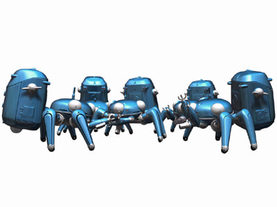 tachikoma c 3d model - Tachikoma... by taki0928