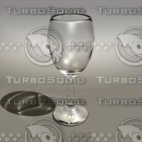 3d 10 oz wine glass model