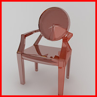 ultra moder plastic club chair 3d model