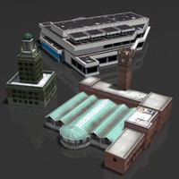 3d model building center station