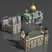 3ds max building cathedral