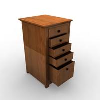 cabinet wood 3d 3ds