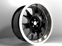 chrome racing rims obj