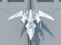 Futuristic Space Superiority Fighter Xcalon XA-1