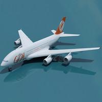 airbus a380 gol 3d model