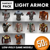 fantasy armor set 1 3d model